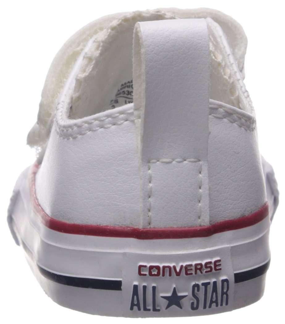 Converse Girl's Chuck Taylor All Star 2V Leather Low Top Shoe, White, 4 M US Toddler by Converse (Image #2)