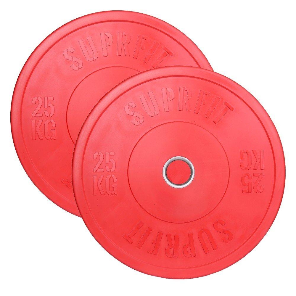 Suprfit Farbeed Bumper Plates   Hantelscheiben   Gewicht: 1-25 kg   Mehrfarbig