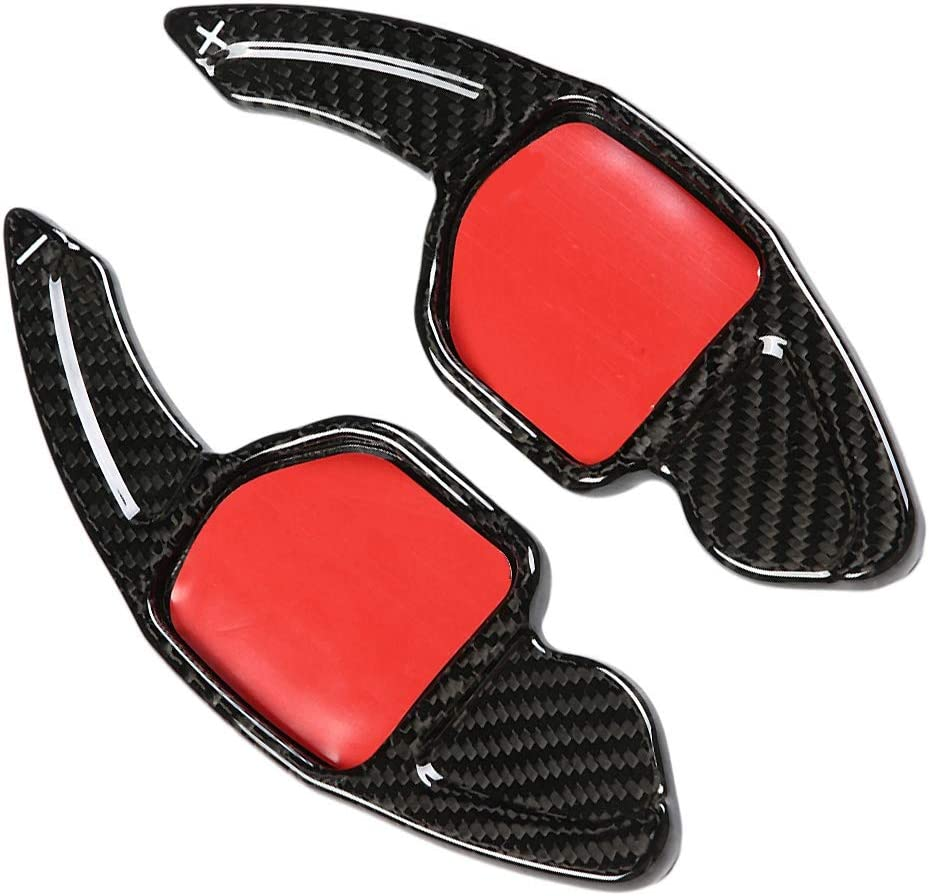 Carbon Fiber Paddle Shifter Extension with Cleaning Cotton Piece for A udi Gorgeri Steering Wheel Paddle Shifter,2pcs Paddle Shifter