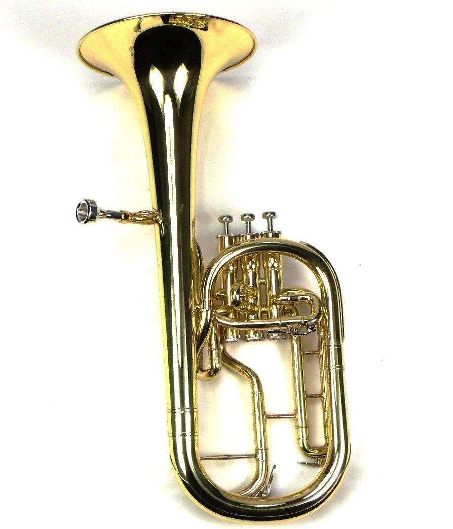 Intermediate Monel Pistons Alto Horn w/Case & Mouthpiece-Gold Lacquer Finish by Moz (Image #2)