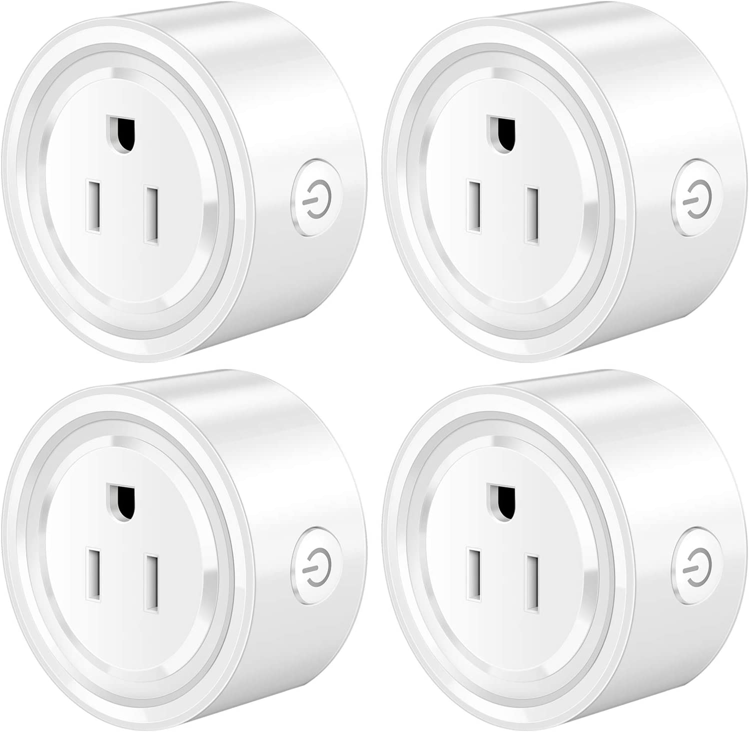Smart plugs Homeazi Mini smart WiFi Outlets with remote control and timer function work with Alexa and Google Home, 2.4GHz WiFi, No Hub Required, 4 Pack
