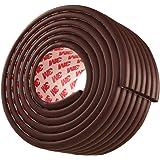 ベビー コーナーガード コーナークッション 波型 タイプ 赤ちゃん ケガ防止 クッション 全長5メートル 直接に使う テープが予メ貼る ブラウン