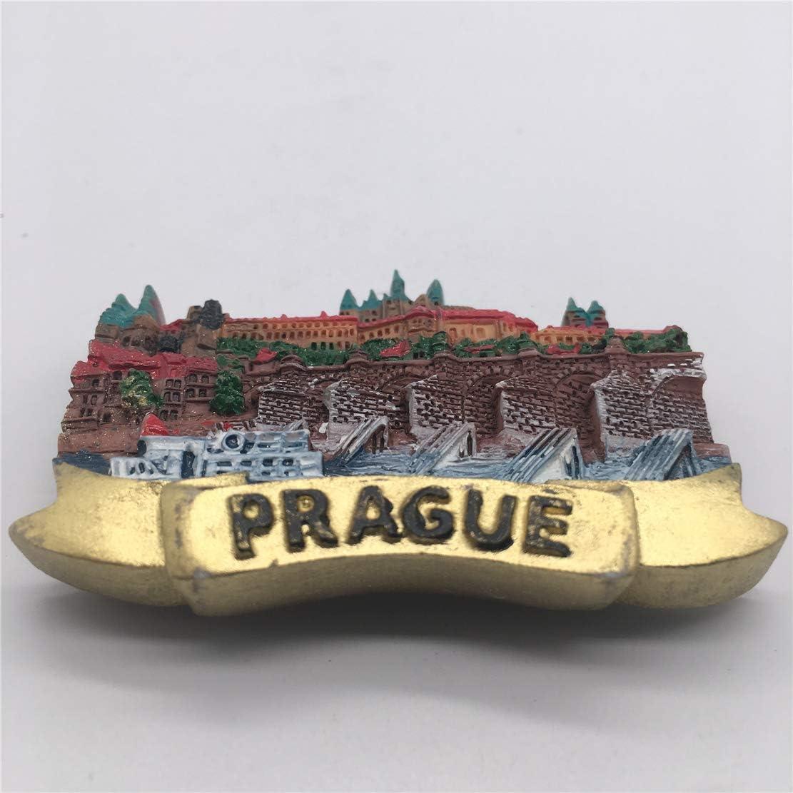 Fridge Magnet City Hall Praga Repubblica Ceca 3D Resina Handmade Craft Tourist Travel Citt/à Souvenir Collection Lettera Frigorifero Sticker