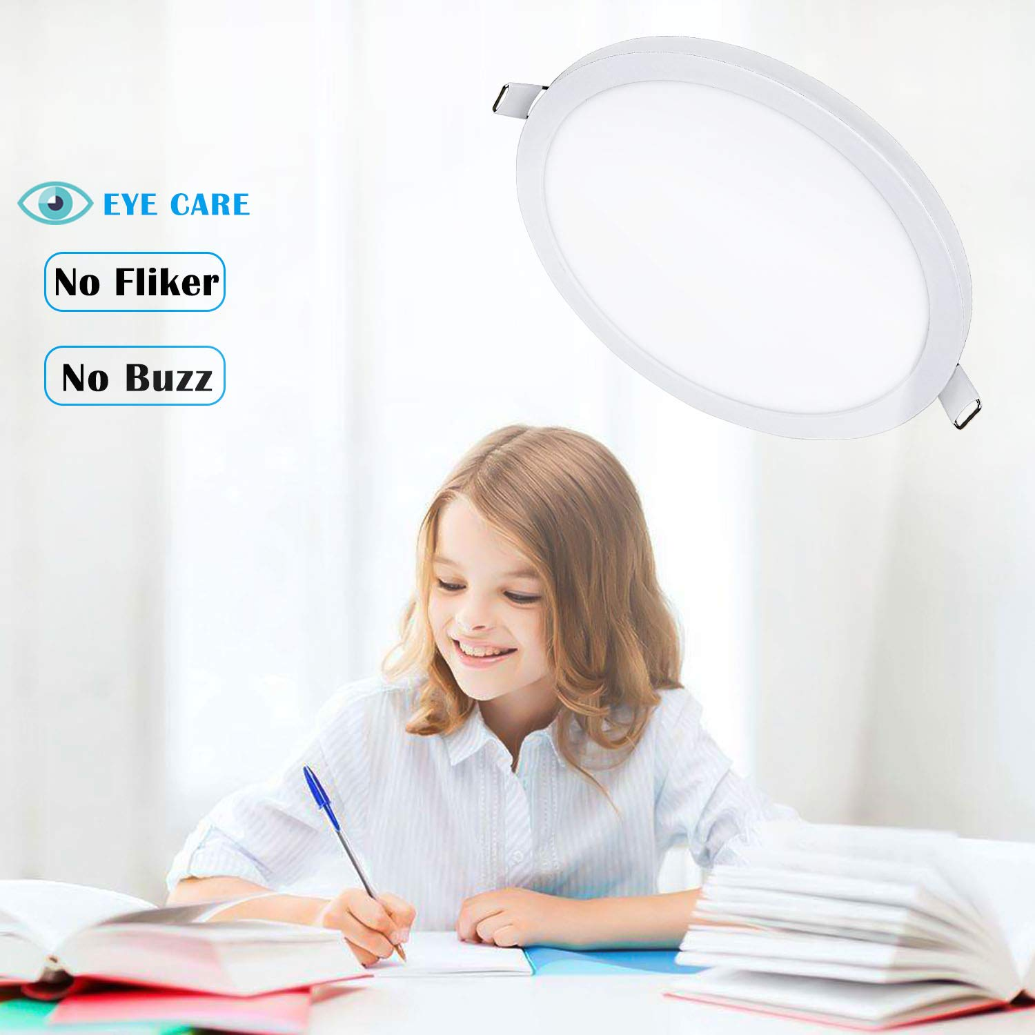 1000lm Retrofit Recessed Lighting Fixture 5000K Daylight 12W Ultra-Thin Panel Light with Driver AceLite 5//6 inch Recessed Ceiling LED Downlight Dimmable 10-Pack