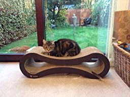 Petfusion ultimate cat scratcher lounge 86x27x27 cm for Cat chaise lounge uk