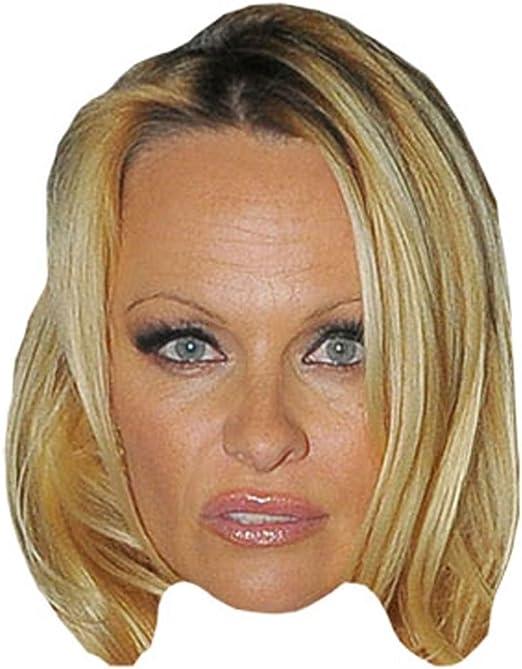 Celebrity Mask Smile Pamela Anderson Card Face and Fancy Dress Mask
