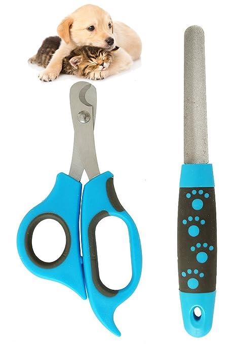 BPS (R) Cortaúñas Tijera Scissors con Lima para Mascotas Perros Gatos Acero Inoxidable y