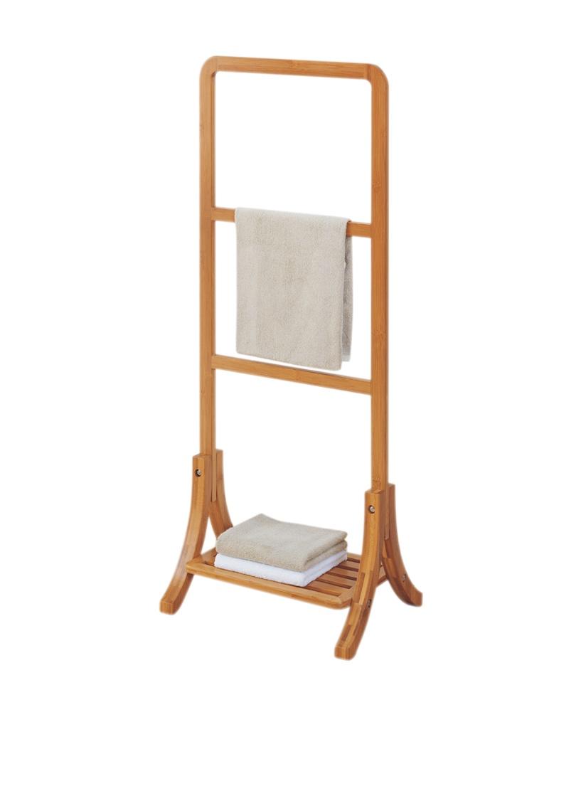 Bamboo Spa Bath Hand Towel Rack Free Standing 3 Tier Towel Rail w ...