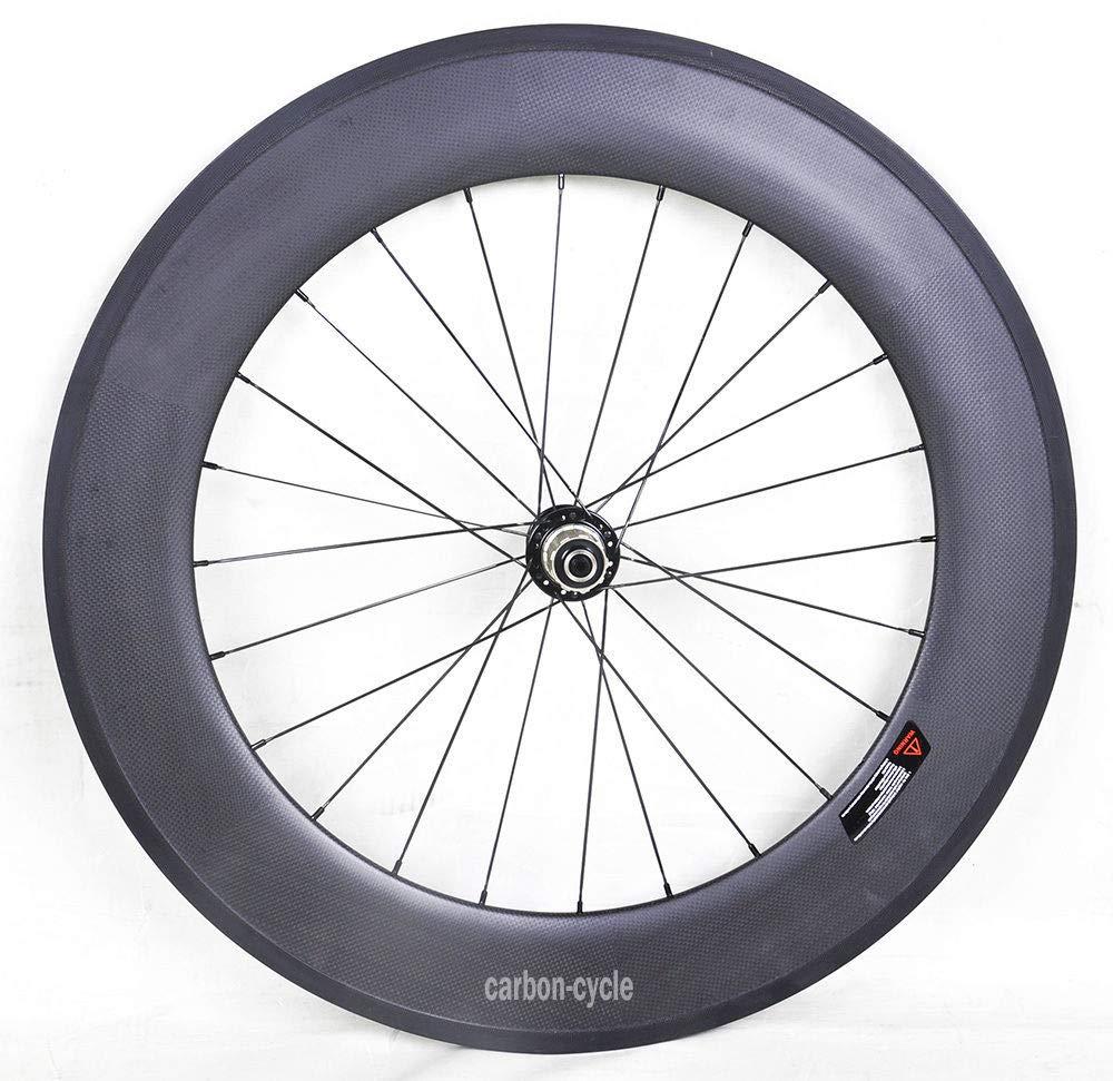 FidgetFidget Wheel 88mm スポーク カーボン リアクリンチャー ロードバイク 700C リム 23mm リム 3k マット ブラック Campagnolo 8/9/10/11s ブラック 700C   B07HCWTGSP