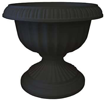 Amazon Com Bloem Gu18 00 Grecian Urn Planter 18 Black Garden