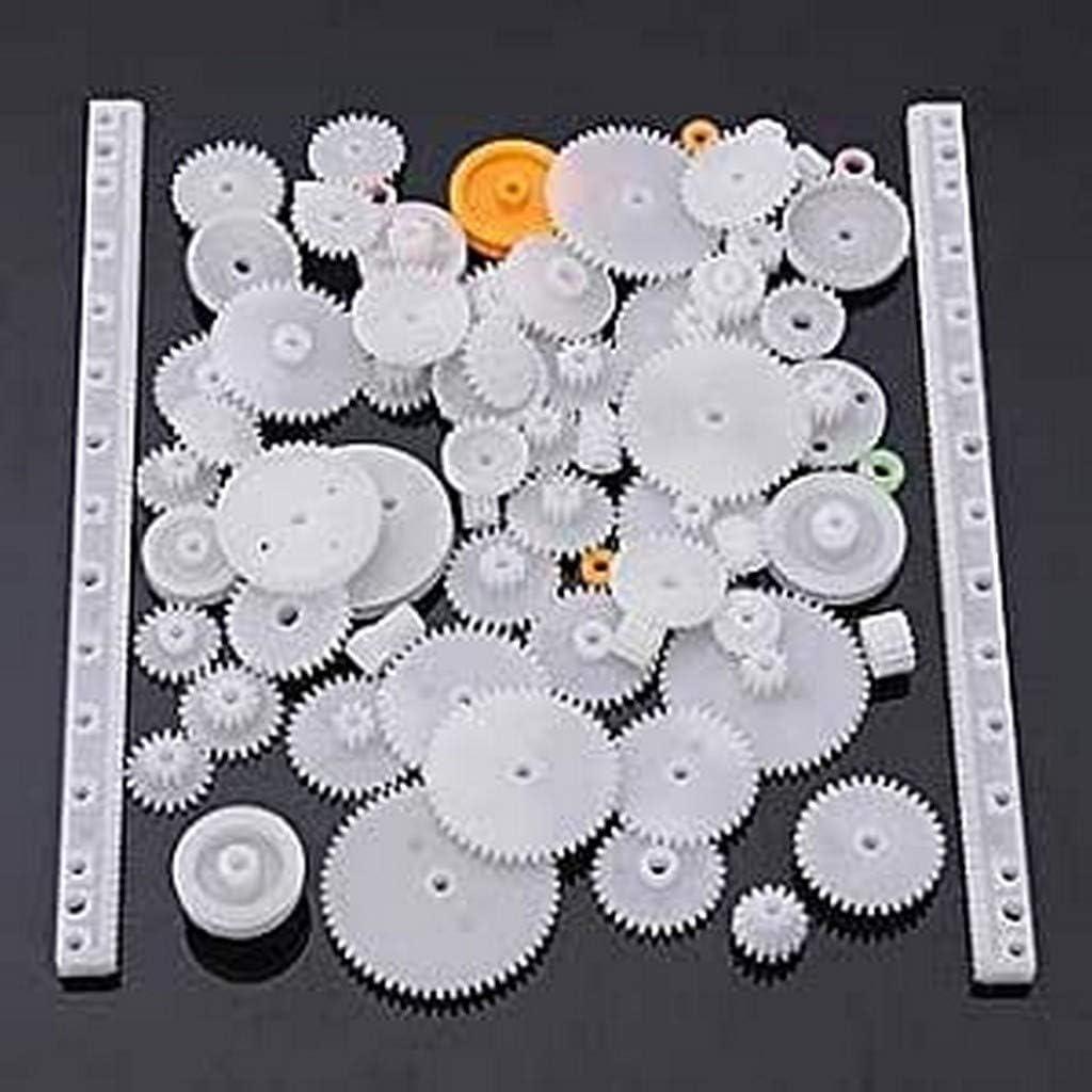 Yunique Espana 5K-6FT1-46M9 75 Piezas Paquete Different Gear Engranajes para la robótica (Kit de Engranajes 75 Piecas)