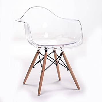 Bar StoolsQX IAIZI Accoudoir Transparent Dinant La Chaise Eames Simple Cratif Designer En Plastique Dossier