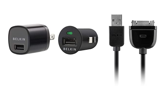 Belkin Usb Charging Kit With Wall Charger And Car Charger For Apple Iphone Black