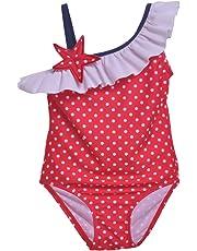 Flap Happy Baby Girls UPF 50+ Arielle Ruffle Swimsuit