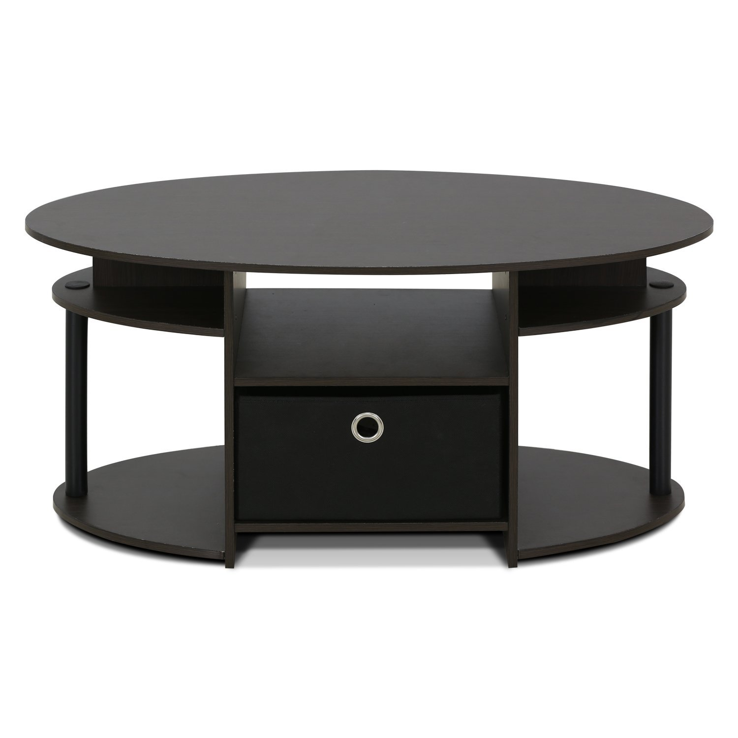 Amazon FURINNO WNBK Jaya Simple Design Oval Coffee Table