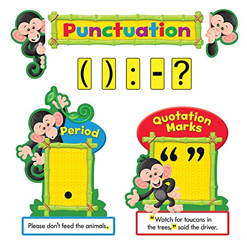 TREND enterprises, Inc. Monkey Mischief Punctuation Bulletin Board (Monkey Mischief Bb Set)