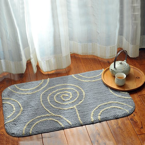 Cotton mats door mats bedroom absorbent pad in the foyer bathroom and kitchen non-slip mat 50x80cm by ZYZX