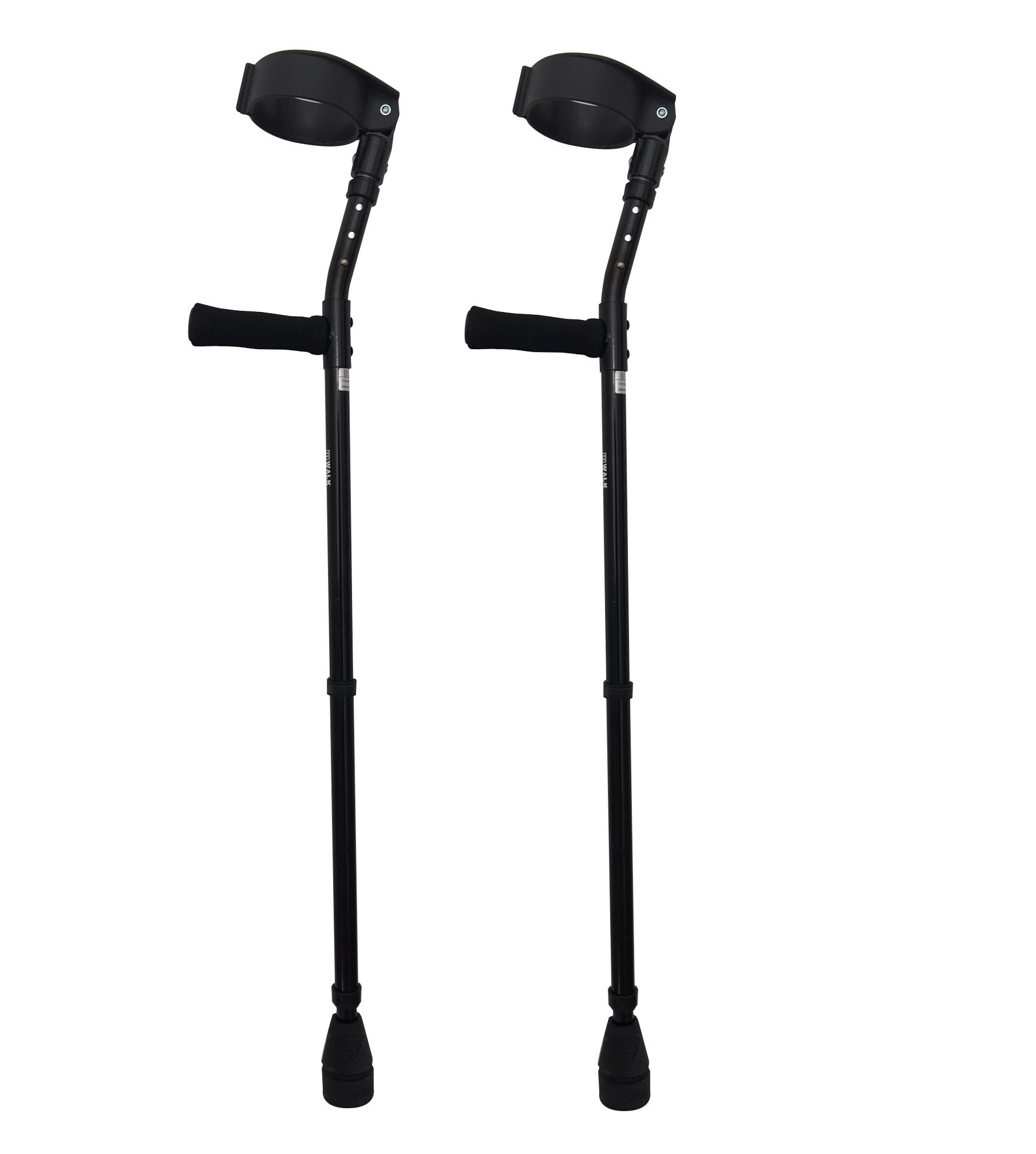 Thomas Fetterman Walk Easy 490 4'' Cuff Adjustable Forearm Crutches with Choice of Tips (Adjustable with Tornado Rain Tip)