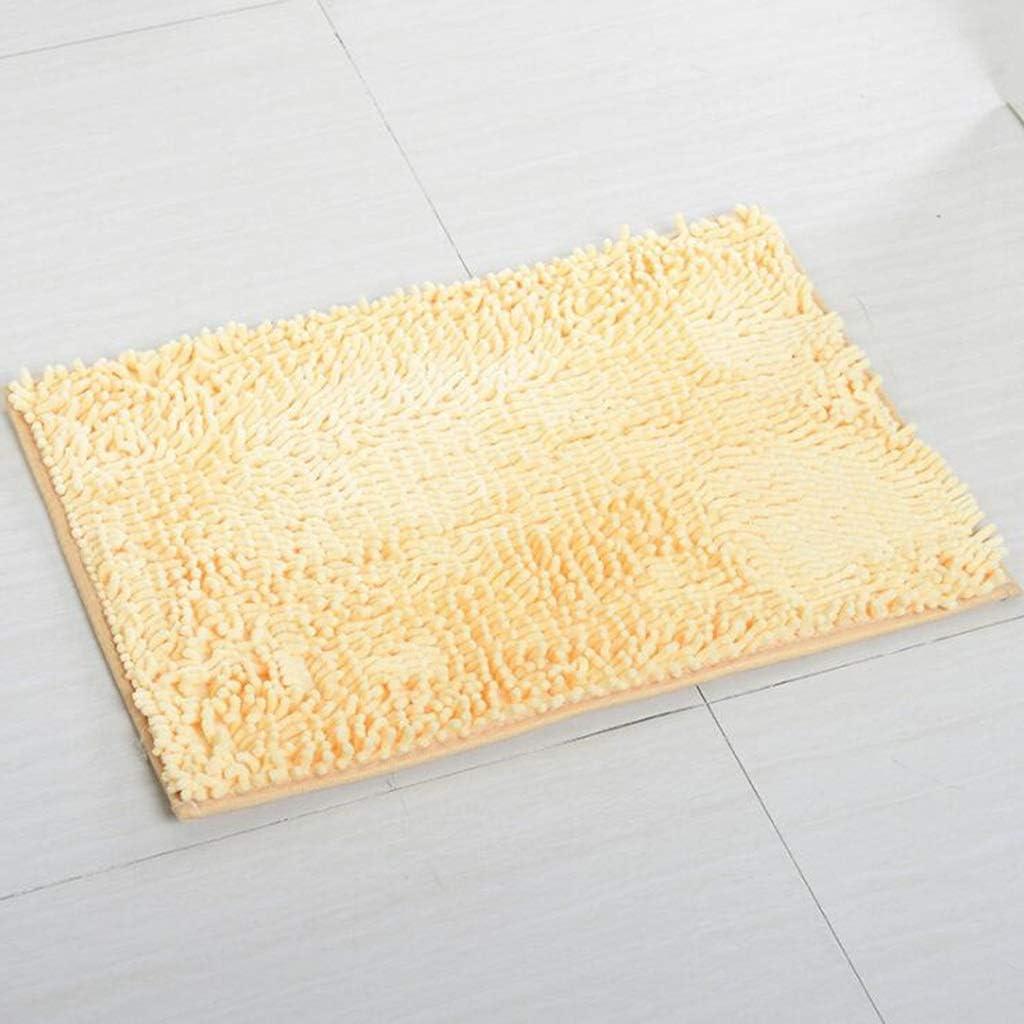 CarPet Household Door Mats Floor Mats Door Caterpillars Absorbent Anti-Slip Dusting 5080cm Color : Green, Size : 5080cm