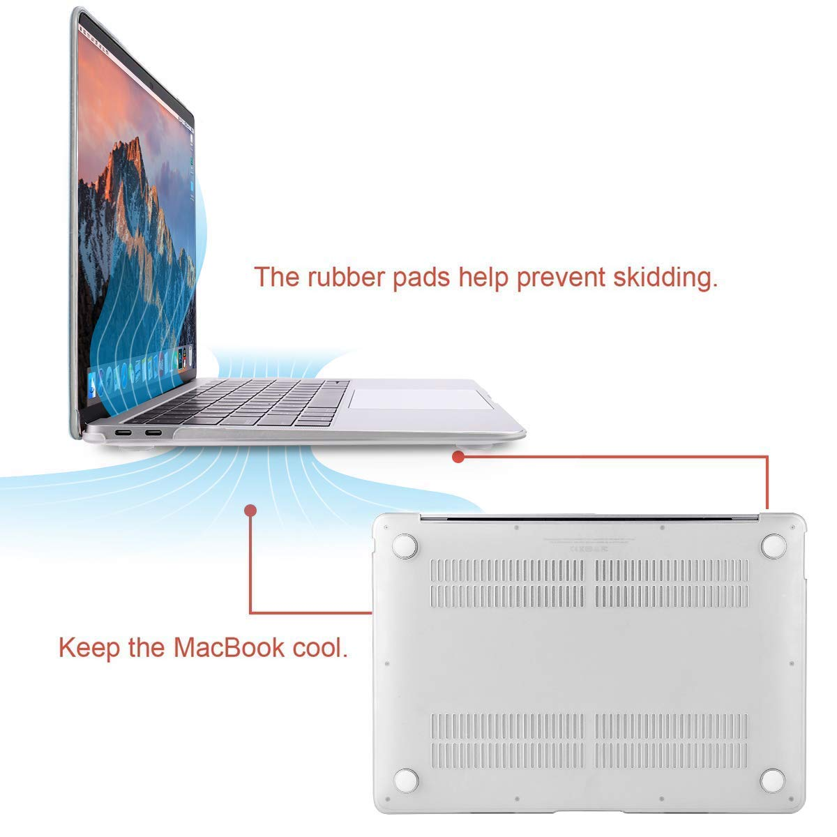 MOSISO Funda Dura Compatible con 2019 2018 MacBook Air 13 Pulgadas A1932 con Pantalla Retina Ultra Delgado Carcasa R/ígida Protector de Patr/ón de Pl/ástico Cubierta M/ármol Blanco /& Dorado