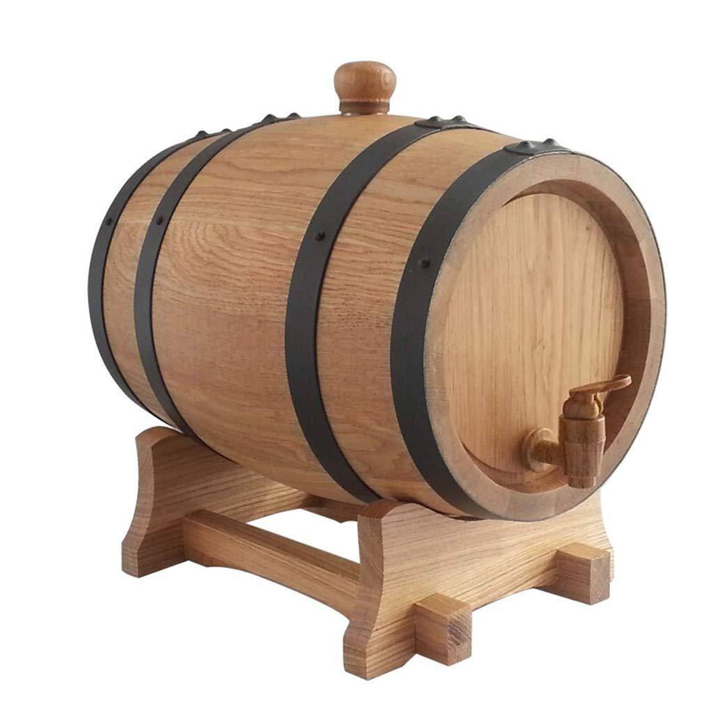 Yilian Jiutong Oak Barrel 5L Oak Barrel Without Glue, no Wax, no Liner Baking Barrel Wine (Size : 5L)