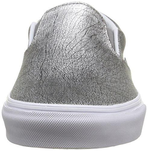Sport on Bas Chaussures Argent Blanc Classique top métallique Aluminium En Véritable De L'argent De L'adulte Slip Vans Unisexe XYw5xH