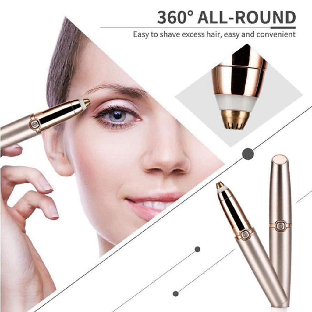 Meidexian888 Electric Eyebrow Trimmer for Women,Portable Eyebrow Hair Remover Special ABS + Stainless Steel Blade Material by Meidexian888 Hair Removal (Image #5)