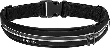 Gym Running Belt Waist Pack,Sweatproof Reflective Expandable Storage Bag