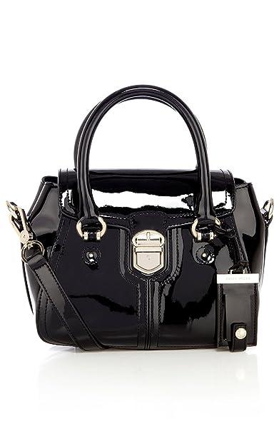 3621fc7c2803 Karen Millen black patent leather bag GR032: Amazon.co.uk: Shoes & Bags