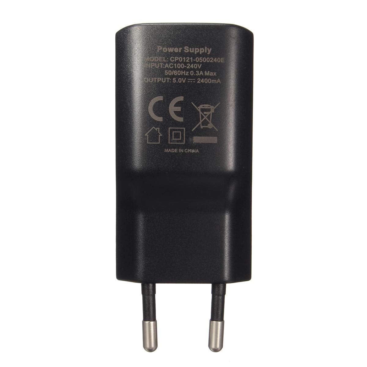 10 x Black On-Off Inline Through Switch 3-Core SPST 6A 250VAC