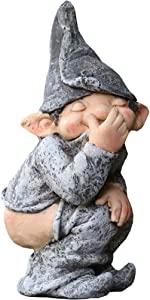 Pearlead Bare Buttocks Garden Gnome Statue,Indoor/Outdoor Garden Naughty Gnome Sculpture for Patio,Yard or Lawn