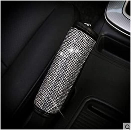LuckySHD Crystal Car Gear Shift Cover with Bling Rhinestones Car Accessories Case for Women