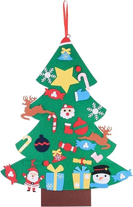 Xmas Decorations 3ft Wall Hanging Ornaments Kids Gifts Party Supplies EnriQ DIY Felt Christmas Tree Set