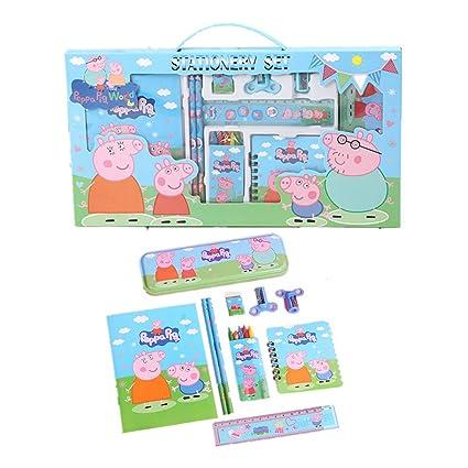 Peppa Pig Il Compleanno Di Natale.Carino Rifornimenti Kit Penna Della Scuola Della Cassa Di Matita