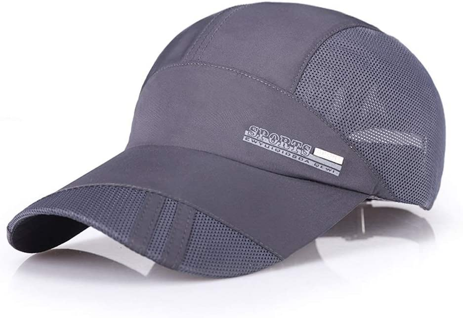 Color : Dark gray A LDDENDP Quick-drying Cap Men and Women Summer Casual Baseball Cap Thin Material Sports Quick-drying Mesh Cap Shade Classic Breathable Cap 100/% Cotton Fabric Adjustable