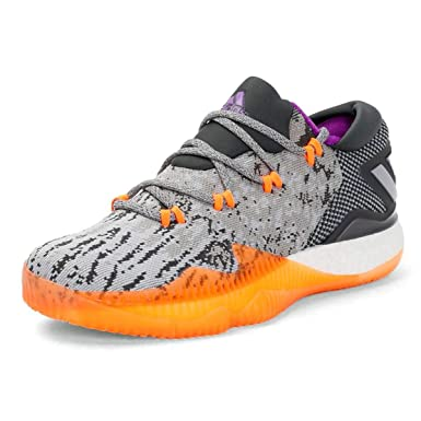 buy online 13292 e6062 adidas Men s Crazylight Boost Low Basketball Shoes, Multi Solid Gray    Orange ...