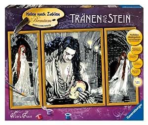 """Ravensburger 28956 - Juego de pintura por números diseño """"Lágrimas de piedra"""", tríptico de 80 x 50 cm [Importado de Alemania]"""