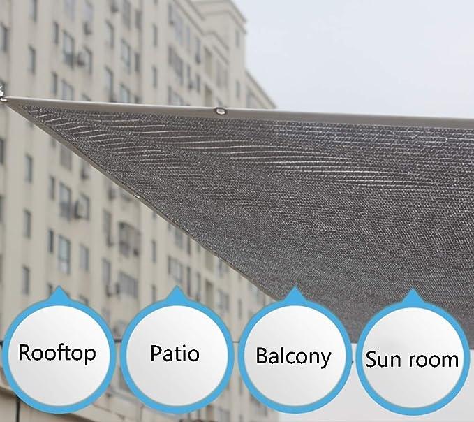 ANHPI 85% De Sombreado Shade UV Resistente Neto De Refrigeración Jardín Malla Reflectante De Aluminio para El Patio del Balcón (Size : 1 * 3m): Amazon.es: Hogar