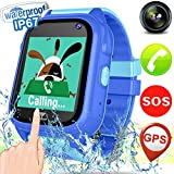 Kid Smart Watch GPS Tracker - NEW IP68 Waterproof Fitness Tracker Smart watch Phone for Boys Girls with More Precise GPS SOS Anti-lost Camera Digital Wrist Smartwatch Summer Outdoor Bracelet Watch