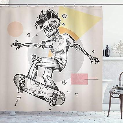 acheter rideau de douche tete de mort online 13