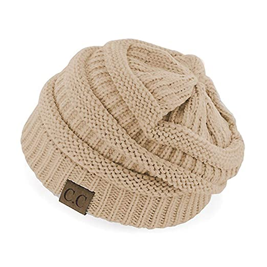 15fb507ea18 Crane Clothing Co. Women s Classic CC Beanies One Size Beige at ...