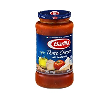 Barilla Three Cheese All Natural Pasta Sauce 24 oz (Pack of 12)