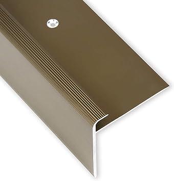 Toolerando Perfil para canto de escalera - 134 cm, forma en F, 53 x 50 mm, montaje con tornillos, bronce: Amazon.es: Bricolaje y herramientas