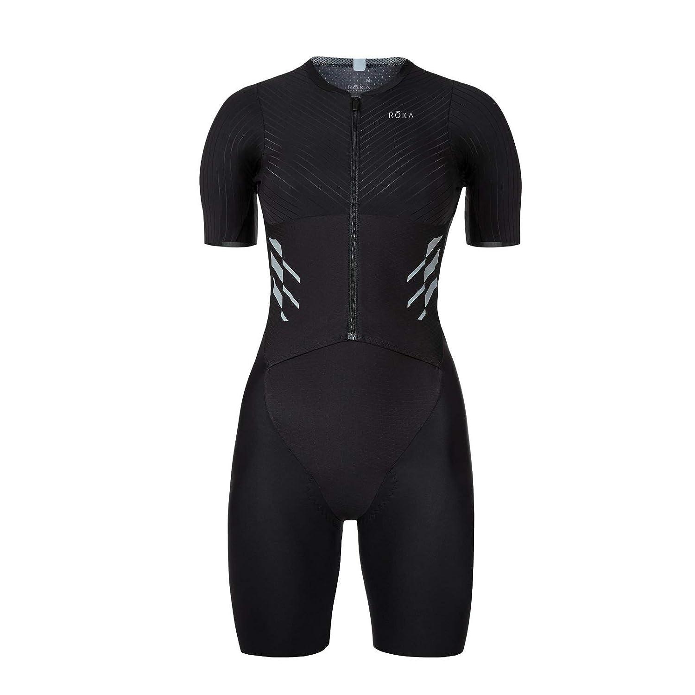 915abc12ca Amazon.com : ROKA Women's Gen II Elite Aero Short Sleeve Triathlon Sport  Suit : Sports & Outdoors
