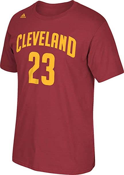 60d6e4aa7bf Lebron James Cleveland Cavaliers Garnet Jersey Name and Number T-shirt  X-Large