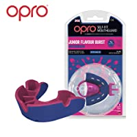Opro Silver Level Mouthguard for Ball, Stick and Combat Sports - 18 Month Dental Warranty (Adult/Kids Sizes)