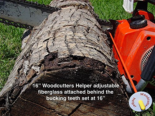 "Woodcutters Helper 16"" Adjustable Fiberglass Chainsaw-Firewood Measuring Tool-Accessory"