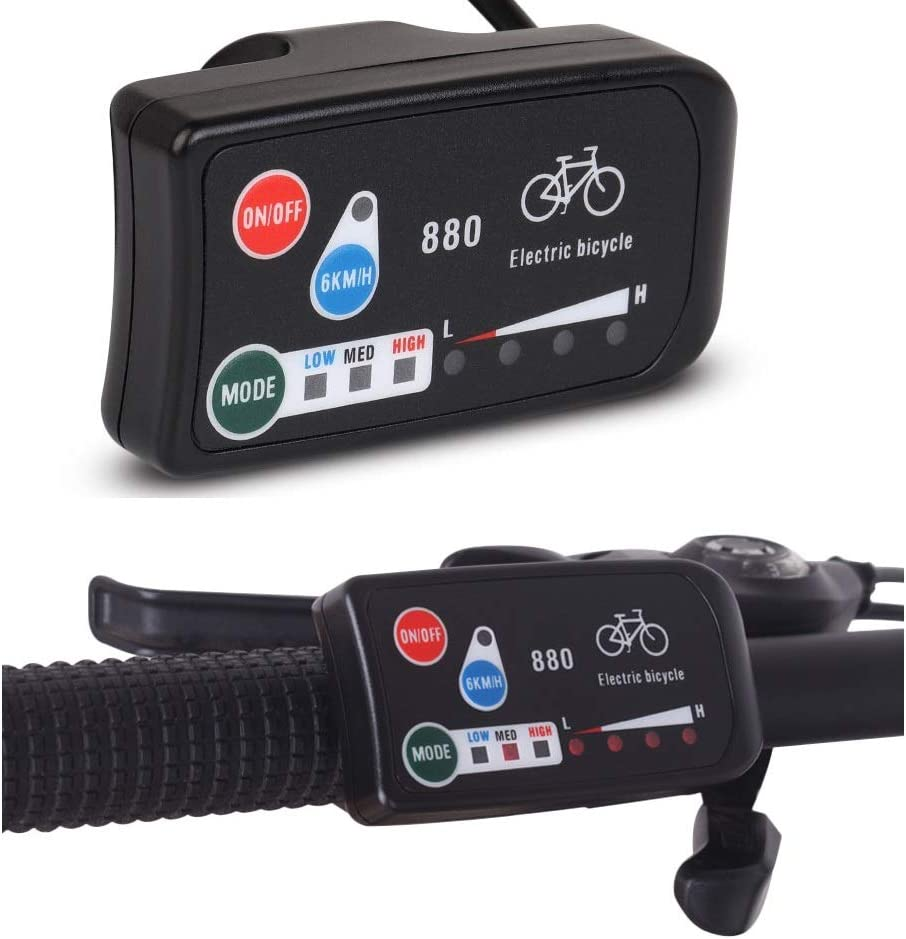 Brands RICETOO Electric Bicycle Accessories 36//48V Simple KT-LED880 Display E-Bike for Kunteng Controller LED Control Panel SM Plug