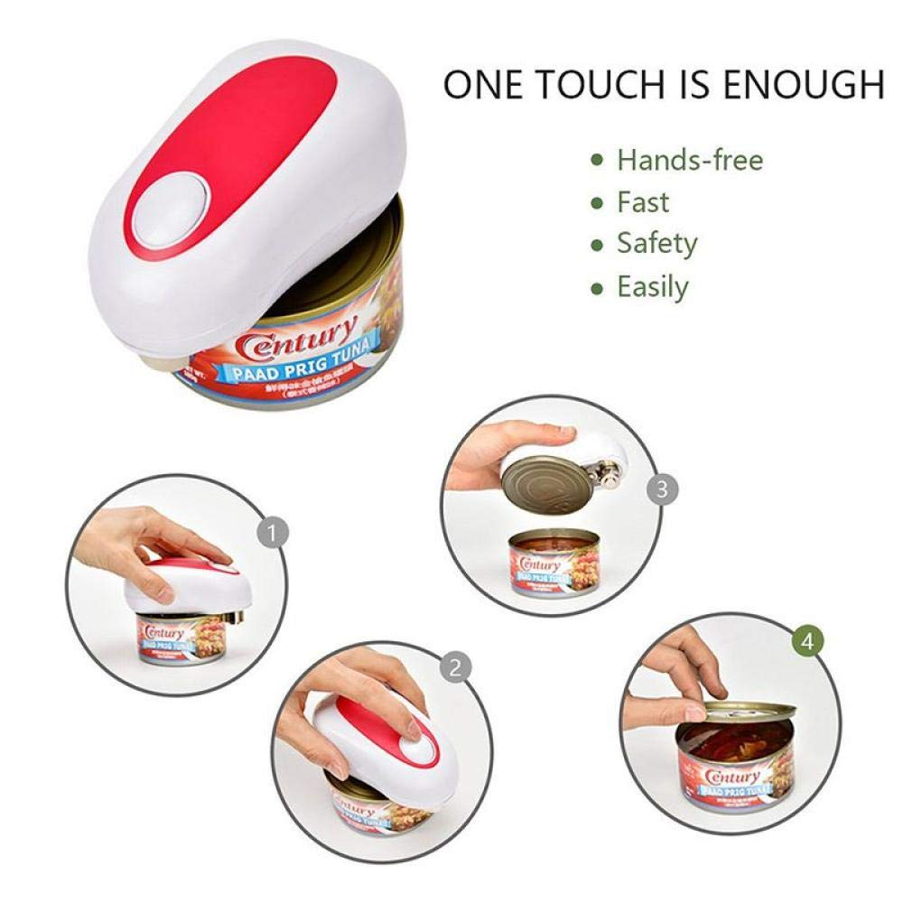Gamloious Electric One-Button Can Opener Automatic Innovative Jar Opener Without Battery Hands Free Operation Kitchen Tools