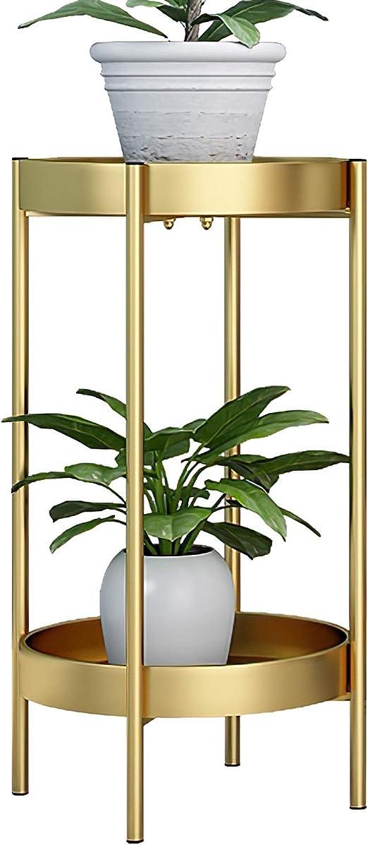 ZEETOON - Moderno soporte de metal para plantas y 2 bandejas ...